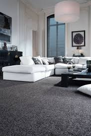 Sophisticated black and white living room idea #monochrome #trendy. Grey  Carpet ...