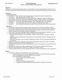 Software Testing Resume Format For Experienced Luxury Sample Qa
