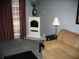 Corner Gas Fireplace Box With Tv Above And Entertainment Center ...