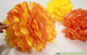 How To Make Fluffy Decoration Balls How to Make a Tissue Paper Ball 100 Steps with Pictures wikiHow 33