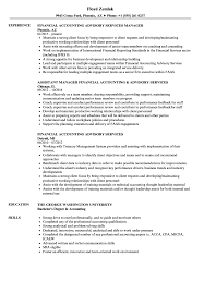 Resume Example For Accounting Position Financial Accounting Advisory Services Resume Samples Velvet Jobs 28