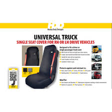 hdd universal fit front truck seat cover grey 234 heavy duty designs free delivery