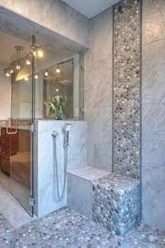 Small Picture Spruce up your shower by adding pebble tile accents Click the pin