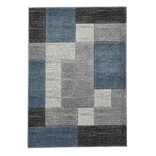 grey blue patterned rug hover over image to zoom