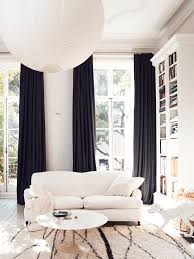 Black And White Curtains Swell Shopping Winter Whites Living Intended Decor