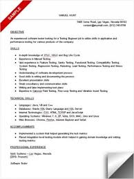 resume format for software tester24 cover letter template for test engineer  resume sample cilook