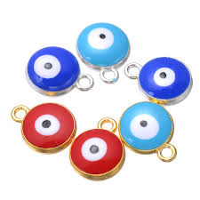 free evil eye beads turkey blue eyes beads diy beholders necklace pendant drip twin evil