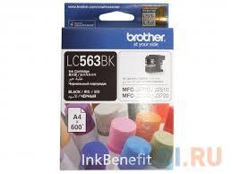 <b>Картридж Brother LC563BK</b> черный (black) 600 стр. для Brother ...