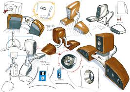 industrial design sketches. mp3 developmental sketches. industrial design sketches d