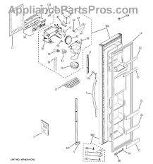 ge wr17x11267 ice dispenser funnel appliancepartspros com part diagram