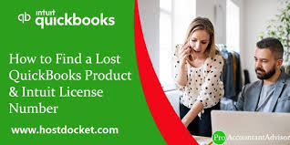 lost quickbooks and license number