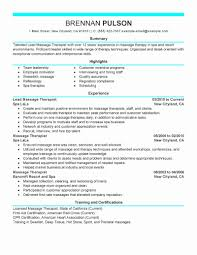 Spa Therapist Resume Sample Spa Therapist Resume Sample Best Of 24 Massage Therapy Resume 4