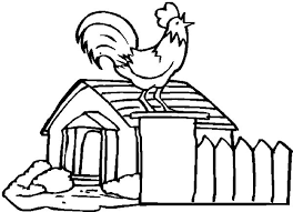 Small Picture Chicken Coop and Crowing Rooster Coloring Pages NetArt