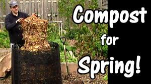 compost for spring leaves used coffee grounds garden waste leaf compost