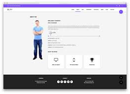 Resume Website Template 24 Best HTML24 VCard And Resume Templates For Your Personal Online 14