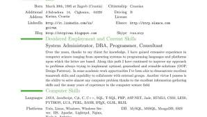 Resume Examples Example Of Resume Latex Resume Template Best
