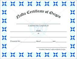 Certificate Of Origin Templates Acepeople Co