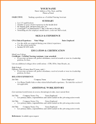 Resume Samples For Nurses With No Experience Resume Samples For Nurses With No Experience Luxury Cna Resume 21