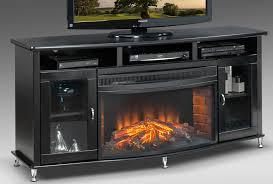 black tall fireplace tv stand metallic knobs modern