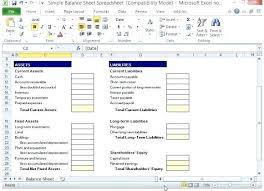 Microsoft Excel Balance Sheet Templates Free Excel Balance Sheet Template