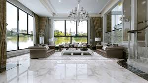 Luxurious Big Living Room With Leather Sofas D Model MAX - Big living room furniture
