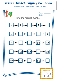 Write The Missing Number - 4 Archives - Teaching My Kid