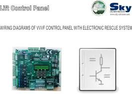 sky elevator wiring diagrams of vvvf control panel rescue system