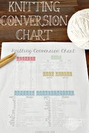 Knitting Yarn Size Chart Knitting Conversion Chart Free Printable Tastefully Eclectic