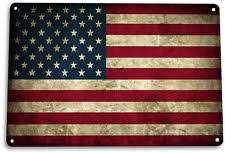 tin sign american flag a212 metal decor patriotic wall art store shop on patriotic outdoor wall art with american flag art ebay