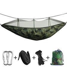 <b>Portable</b> Camping <b>Hammock</b> - <b>Double</b>/Single Indoor Outdoor Tree ...