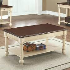 ornate coffee table collection dark cherry and antique white finish wood accents black