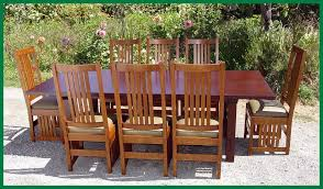 voorhees craftsman mission oak furniture l j g stickley style