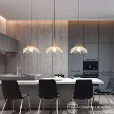 modern simple black golden led pendant