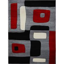 living room fabulous red and gray area rugs black home dynamix 3 9376d 450 64 1000