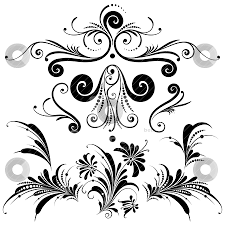 Design Decorative Interesting Set Of Decorative Design Elements Stock Vector
