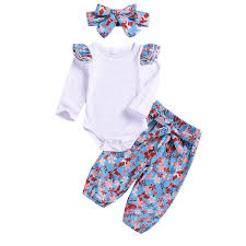 Amazon Com Fadfed 3pcs Set Cute Toddler Baby Girls Cotton