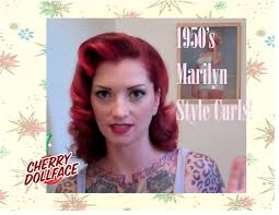 Marilyn Monroe Hairstyle Vintage 1950s Curly Hair Tutorial Ala Marilyn Monroe By Cherry