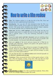 best film review worksheets images film review how to write a film review