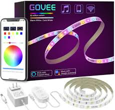 Light Strips That Work With Alexa Smart Led Strip Lights Govee Rgbww Wifi Light Strip Works With Alexa Google Home 16 Million Colors Warm White And Cool White Wake Up Lighting App