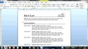 How To Create A Resume On Word Nfcnbarroom Com