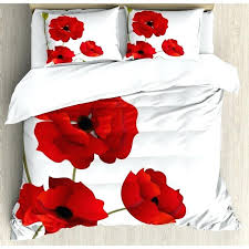 poppy quilt covers duvet red fl flowers cover set reviews bedrooms good looking agreeable