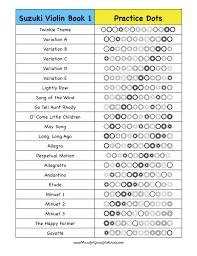 Suzuki Violin Book 1 Practice Chart Happy Music Making In