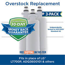 lg refrigerator replacement filter lt700p. lg lt700p 46-9690 adq36006101 comparable refrigerator water filter 3 pack lg replacement lt700p
