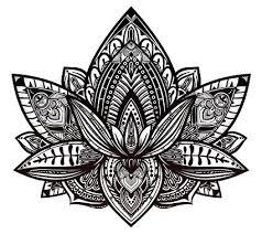 Henna Pattern Custom Amazon Beautiful Tribal Henna Pattern Lotus Flower Black And