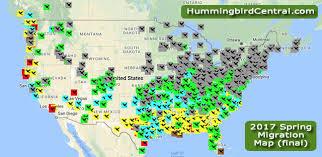 2017 Hummingbird Migration Chart 2017 Hummingbird Spring Migration Map 2017 Hummingbird