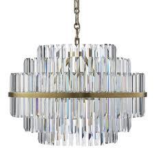 vienna 22 round crystal chandelier antique brass