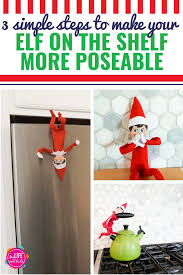 how to make your elf on the shelf more poseable using wire velcro and magnets