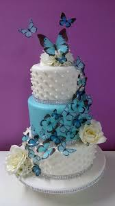 3 Tier Butterfly Wedding Cake Cake By Hayley Janes Cakes Cakesdecor