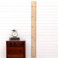 Growth Chart Art Wooden Growth Chart Ruler For Boys