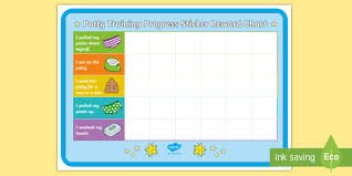 Potty Training Progress Sticker Reward Charts Toilet